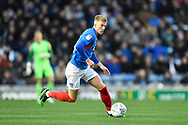 Ross McCrorie (15) of Portsmouth on the attack during the EFL Sky Bet League 1 match between Portsmouth and Ipswich Town at Fratton Park, Portsmouth, England on 21 December 2019.