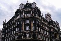 Budapest, Hungary.  Building close to the Klotild Palace.
