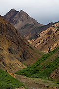 Polychrome Mountain, Denali National Park, Alaska..