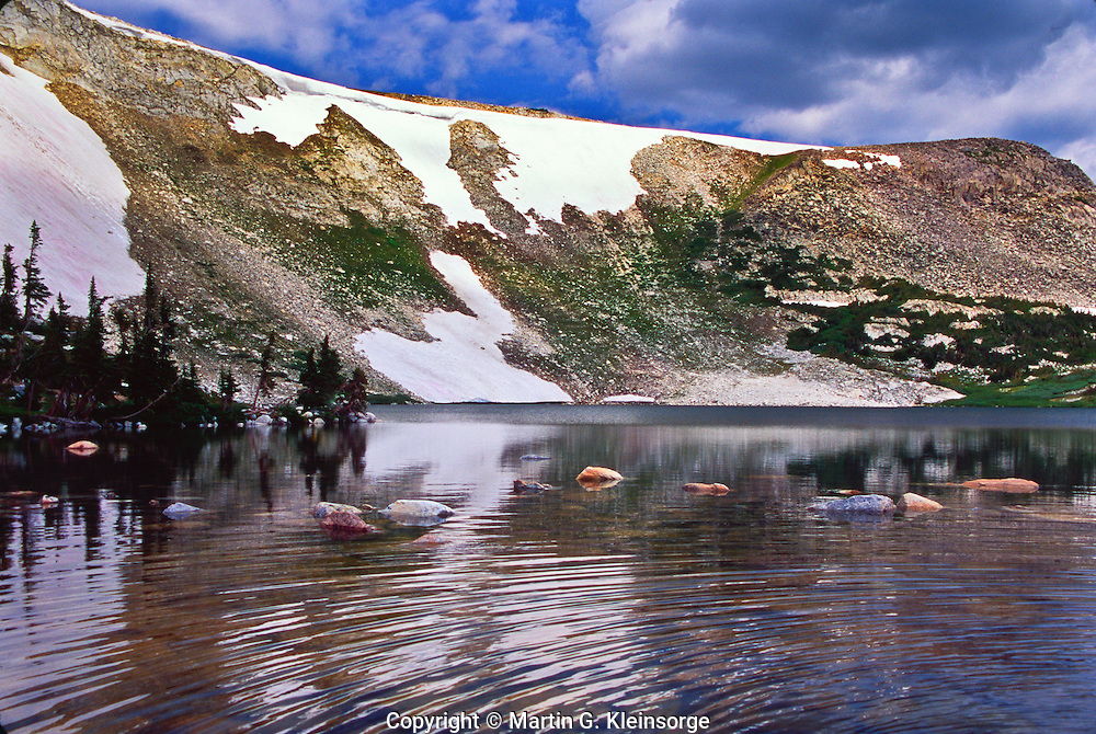 Lost Lake below Browns Peak.  found along the Glacier Lakes trail.  Snowy Mountains, Wyoming.  USA
