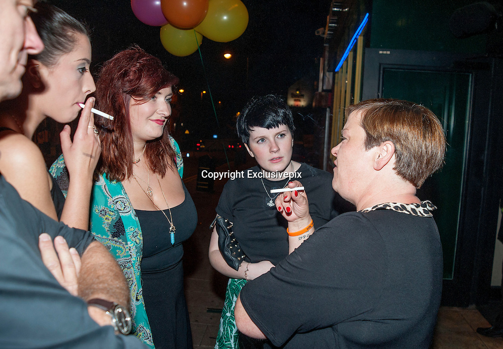 After being pictured on saturday night in London Celebrating former house mate Ricci Guarnaccio's birthday White Dee hits the town in stoke!<br /> <br /> Benefits Street and Celebrity Big Brother TV star White Dee (Deirdre Kelly) meeting fans at an appearance in the Walkabout Bar, Hanley, Stoke.<br /> ©Exclusivepix