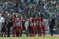 May 20, 2018 - Lisbon, Portugal - Aves' forward Alexandre Guedes celebrates with teammates after scoring during the Portugal Cup Final football match CD Aves vs Sporting CP at the Jamor stadium in Oeiras, outskirts of Lisbon, on May 20, 2015. (Credit Image: © Pedro Fiuza/NurPhoto via ZUMA Press)