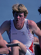 Barcelona, SPAIN.   GBR  M8+, Ben HUNT-DAVIS.1992 Olympic Rowing Regatta Lake Banyoles, Catalonia [Mandatory Credit Peter Spurrier/ Intersport Images]