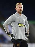 Football - 2020 / 2021 Europa League - Group F - Leicester City vs Zorya Luhansk - King Power Stadium<br /> <br /> Leicester City's Kasper Schmeichel during the pre-match warm-up.<br /> <br /> COLORSPORT/ASHLEY WESTERN