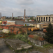 A disused factory dominates the landscape in central Georgia.
