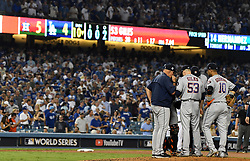 October 25, 2017 - Los Angeles, California, U.S. - Houston Astros vs. Los Angeles Dodgers during game two of a World Series baseball game at Dodger Stadium on Wednesday, Oct. 25, 2017 in Los Angeles. Houston Astros won 7-6 in 10 innings. (Photo by Keith Birmingham, Pasadena Star-News/SCNG) (Credit Image: © San Gabriel Valley Tribune via ZUMA Wire)