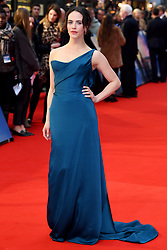 Jessica Brown Findlay attending the world premiere of The Guernsey Literary and Potato Peel Pie Society at the Curzon Mayfair, London. Photo credit should read: Doug Peters/EMPICS Entertainment