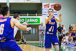 Djordje Lelic of KK Helios Suns  during basketball match between KK Zlatorog and KK Helios Suns in 1st match of Nova KBM Slovenian Champions League Final 2015/16 on May 29, 2016  in Dvorana Zlatorog, Lasko, Slovenia.  Photo by Ziga Zupan / Sportida