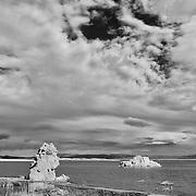 Mono Lake North Shore Tufa - Incoming Storm - Infrared Black & White