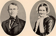 Johann Jakob Brahms and his wife, parents of the German composer Johannes Brahms (1833-1897). From photographs. Music.