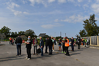 Football - 2020 / 2021 EFL League Two - Forest Green Rovers vs Bradford City<br /> <br /> Fans at this test pilot match entering the ground, at the New Lawn Stadium<br /> <br /> COLORSPORT/ASHLEY WESTERN
