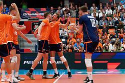 17-09-2019 NED: EC Volleyball 2019 Netherlands - Estonia, Amsterdam<br /> First round group D Netherlands win 3-1 / Michael Parkinson #17 of Netherlands, Wessel Keemink #2 of Netherlands