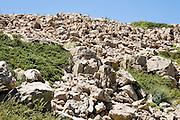 Israel, Hermon Mountain Rock River rock formation