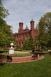 Washington DC: Smithsonian headquarters The Castle on the Mall. Photo copyright Lee Foster.  Photo # washdc102705