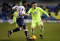 Paul Taylor of Peterborough United closes down Fred Onyedinma of Millwall - Mandatory by-line: Joe Dent/JMP - 28/02/2017 - FOOTBALL - The Den - London, England - Millwall v Peterborough United - Sky Bet League One