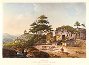 Limekilns of Clifton near Bristol, Gloucestershire. Aquatint, 1798. In the 18th century lime became important for applying to land as a soil improver .