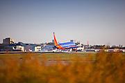 Airplane Landing At John Wayne Airport