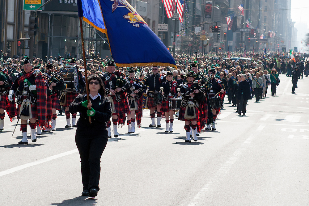 A view of the parade, looking south on Fifth Avenue.