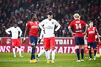 Deception Javier PASTORE - 03.12.2014 - Lille / Paris Saint Germain - 16eme journee de Ligue 1 -<br />Photo : Fred Porcu / Icon Sport