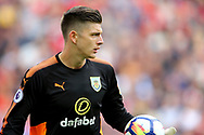 Burnley Goalkeeper Nick Pope looks on. Premier League match, Liverpool v Burnley at the Anfield stadium in Liverpool, Merseyside on Saturday 16th September 2017.<br /> pic by Chris Stading, Andrew Orchard sports photography.