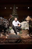 K. Christopher Beard is the Curator and Mary R. Dawson Chair of Vertebrate Paleontology at the Carnegie Museum of Natural History in Pittsburgh, Pa. He was photographed in the museum's Pleistocene Hall (also called the Hall of Ice Age Animals).