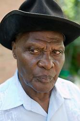 Older man looking serious,