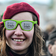 Thousands who packed in Trafalgar Square to celebrate St Patrick day 2019 on 17 March 2019, London, UK.