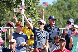 September 20, 2018 - Atlanta, GA, U.S. - ATLANTA, GA - SEPTEMBER 20: Fans at Military Appreciation Day for the first round of the PGA Tour Championship on September 20, 2018, at East Lake Golf Club in Atlanta, GA. (Photo by Michael Wade/Icon Sportswire) (Credit Image: © Michael Wade/Icon SMI via ZUMA Press)
