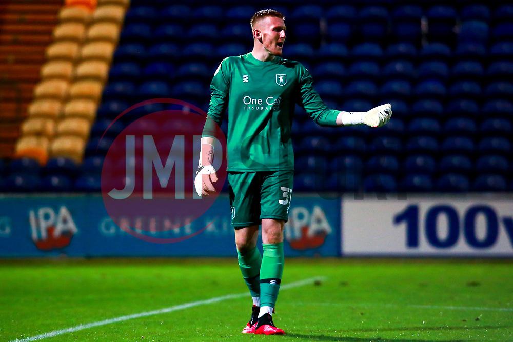 Aidan Stone of Mansfield Town - Mandatory by-line: Ryan Crockett/JMP - 06/10/2020 - FOOTBALL - One Call Stadium - Mansfield, England - Mansfield Town v Lincoln City - Leasing.com Trophy