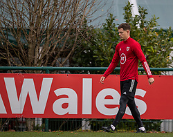 CARDIFF, WALES - Sunday, November 17, 2019: Wales' James Lawrence during a training session at the Vale Resort ahead of the final UEFA Euro 2020 Qualifying Group E match against Hungary. (Pic by David Rawcliffe/Propaganda)