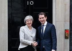 November 22, 2018 - London, United Kingdom - British Prime Minister THERESA MAY meets Austrian Chancellor, SEBASTIAN KURZ for talks about the Brexit deal. (Credit Image: © Mark Thomas/i-Images via ZUMA Press)