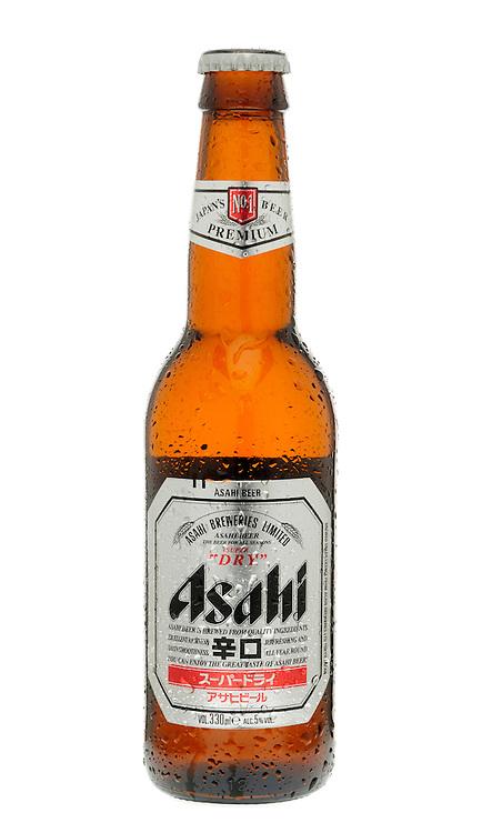 Bottle of Asahi Lager