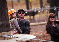 Nov 05, 2010 - Budapest, Hungary - BRAD PITT and ANGELINA JOLIE with children ZAHARA, Pax, and SHILOH enjoy an early evening visit to a park in Budapest, Hungary..(Credit Image: © NorthFoto/ZUMAPRESS.com)