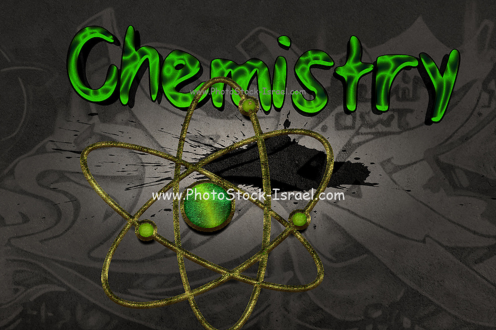 Famous humourous quotes series: Chemistry Graffiti with atom