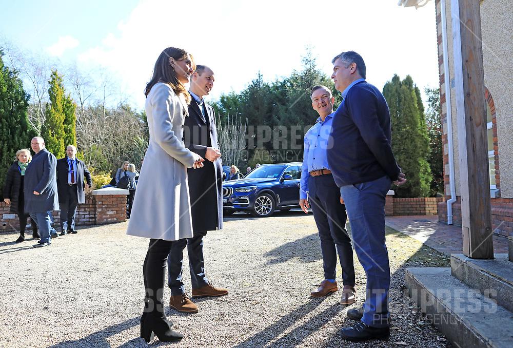 COUNTY KILDARE - Prins William en Catherine, Hertog en Hertogin van Cambridge bij een bezoek an Savannah House, County Kildare, op de tweede dag van hun drie-daags bezoek aan Ierland.