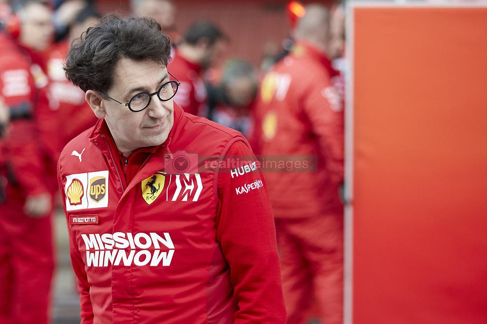 February 28, 2019 - Spain - Mattia Binotto, boss of the Scuderia Ferrrari, seen during the winter testing days at the Circuit de Catalunya in Montmelo  (Credit Image: © Fernando Pidal/SOPA Images via ZUMA Wire)