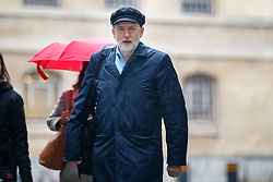 © Licensed to London News Pictures. 15/01/2017. London, UK. Labour party leader JEREMY CORBYN arrives at BBC Broadcasting House in London to appear on The Andrew Marr show on BBC One on 15 January 2017. Photo credit: Tolga Akmen/LNP