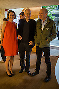 CHARLOTTE DE BOTTON; ANDREW DE BOTTON; SIMON SEBAG MONTEFIORE; , Launch of ' More Human',  Designing a World Where People Come First' by Steve Hilton. Party held at Second Home in Princelet St, off Brick Lane, London. 19 May 2015.