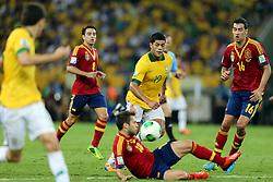 Hulk na partida entre Brasil e Espanha válida pela final da Copa das Confederações 2013, no estádio Maracanã, no Rio de Janeiro. FOTO: Jefferson Bernardes/Preview.com