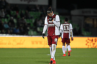 Deception Metz - Guido leonardo MILAN  - 04.04.2015 - Metz / Toulouse - 31eme journee de Ligue 1 <br />