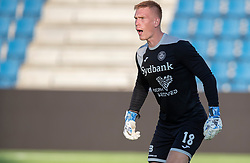 Viktor Anker (Næstved Boldklub) under træningskampen mellem FC Helsingør og Næstved Boldklub den 19. august 2020 på Helsingør Stadion (Foto: Claus Birch).