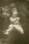 'Princess Louise, Duchess of Fife (1867-1931) with her infant daughter Lady Alexandra Duff (1891-1959). Granddaughter and great granddaughter of Queen Victoria.'