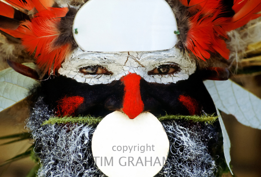 Man at a Sing Sing tribal gathering, Papua New Guinea, South Pacific