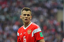 June 14, 2018 - Moscow, Russia - Russian Federation. Moscow. The Luzhniki Stadium. Match Opening of the World Cup 2018. Russia - Saudi Arabia. Solemn opening ceremony of the FIFA World Cup 2018. FIFA World Cup 2018. Player of the Russian national football team (in red)..Denis Cheryshev. (Credit Image: © Russian Look via ZUMA Wire)