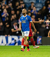 Football - 2021 / 2022  UEFA Europa League - Group A, Round One - Glasgow Rangers vs Lyon - Ibrox stadium - Thursday 16th September 2021<br /> <br /> Kemar Roofe of Rangers looks dejected at full time<br /> <br /> Credit: COLORSPORT/Bruce White