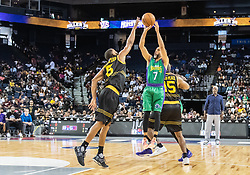 July 6, 2018 - Oakland, CA, U.S. - OAKLAND, CA - JULY 06:Mahmoud Abdul-Rauf (7) co-captain of 3 Headed Monsters goes up for a jump shot during game 4 in week three of the BIG3 3-on-3 basketball league on Friday, July 6, 2018 at the Oracle Arena in Oakland, CA  (Photo by Douglas Stringer/Icon Sportswire) (Credit Image: © Douglas Stringer/Icon SMI via ZUMA Press)
