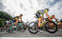 Primoz Roglic of Team Lotto NL Jumbo and Benjamin Hill of Ljubljana Gusto Xaurum during 3rd Stage of 25th Tour de Slovenie 2018 cycling race between Slovenske Konjice and Celje (175,7 km), on June 15, 2018 in  Slovenia. Photo by Vid Ponikvar / Sportida