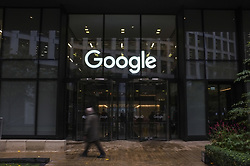November 1, 2018 - London, England, United Kingdom - Google staff walk out from Google headquarters, over women's treatment, London on November 1, 2018. Staff at Google offices around the world are staging an unprecedented series of walkouts in protest at the company's treatment of women. Google chief executive Sundar Pichai has told staff he supports their right to take the action. (Credit Image: © Alberto Pezzali/NurPhoto via ZUMA Press)