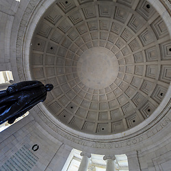 Washington, DC, USA - April 11, 2013: Statue of President Thomas Jefferson in the Thomas Jefferson Memorial in Washington D C