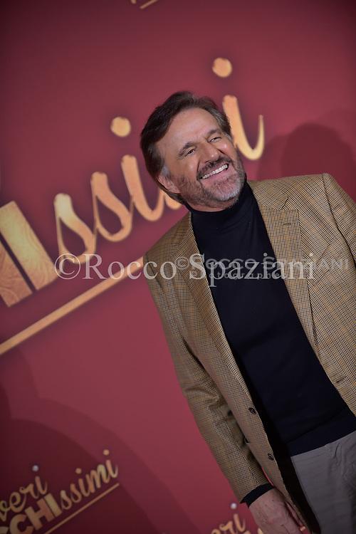 Christian De Sica attends 'Poveri Ma Ricchissimi' photocall on December 11, 2017 in Rome, Italy.